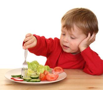 Niños que no quieren comer